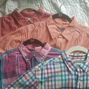OLD NAVY| set of 4 mens short sleeve button-ups